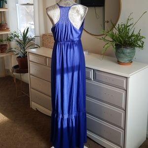 Blue maxi dress
